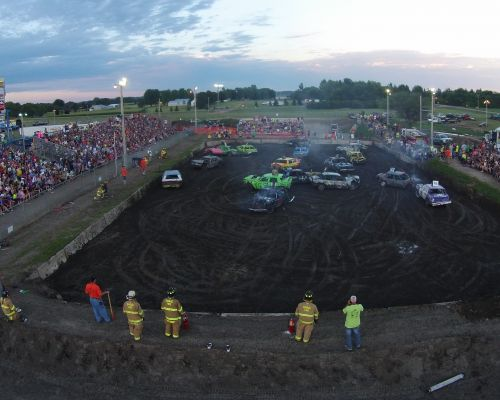 Demo Derby from a drone